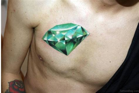 realistic diamond tattoo 74 marvelous tattoos on chest