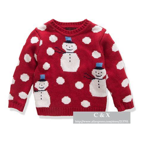 patterns knitted childrens sweaters new 2015 brand children sweater snowman pattern round neck