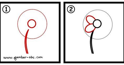 menggambar bunga sederhana  mudah contoh gambar