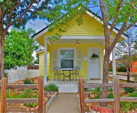 tiny house vacation rental little yellow cottage vacation rental in colorado springs