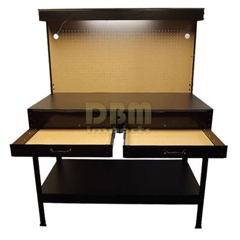 bench outlets multipurpose workbench w lighting 3 outlet plug tool