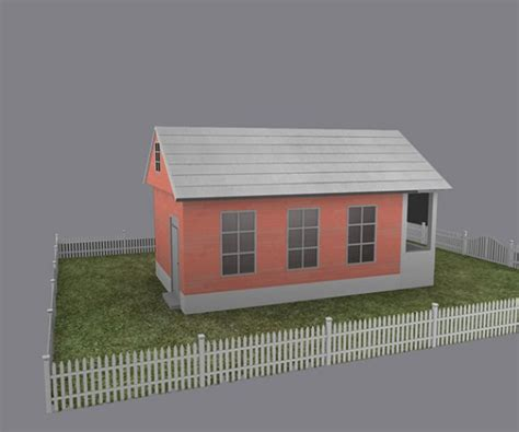 house 3d model free download cottage house free 3d model mb fbx free3d