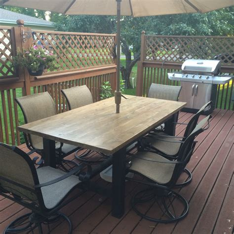 Rustic Patio Table Rustic Farmhouse Style Patio Table Sms Designs Llc