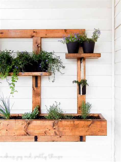 wall herb planter diy vertical herb garden and planter 2x4 challenge