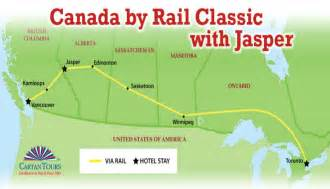 jasper canada map canada by rail classic with jasper 9 days 8 nights