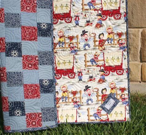 western baby quilt cowboy blanket bandana patchwork