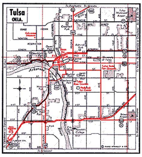 tulsa map oklahoma route 66 maps