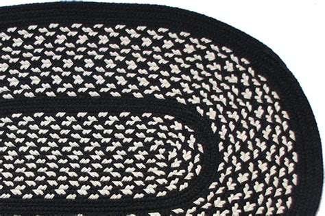 black and white braided rug 1778 black braided rug