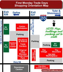 canton flea market map monday trade days shopping orientation for new