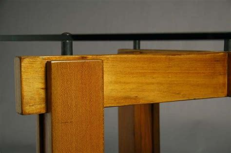 brazilian exotic wood  glass top dining table  stdibs