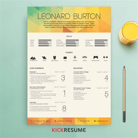 Resume Inspiration by 15 Minimalistic Resume Designs For Your Inspiration