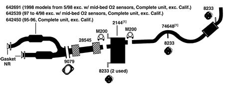muffler diagram 2002 ford explorer exhaust pipe diagram ford auto parts