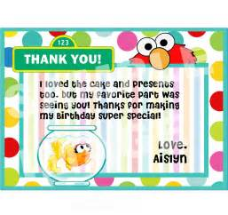 elmo thank you note sesame street thank you note elmo and