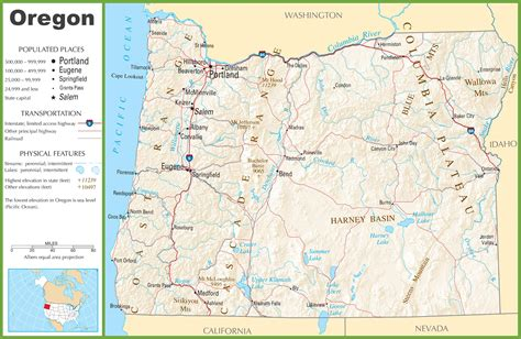 oregon road map oregon highway map