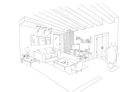 modern house coloring page living room coloring pages download and print for free