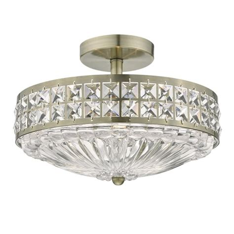 dar olo5375 olona 3 light semi flush ceiling light antique