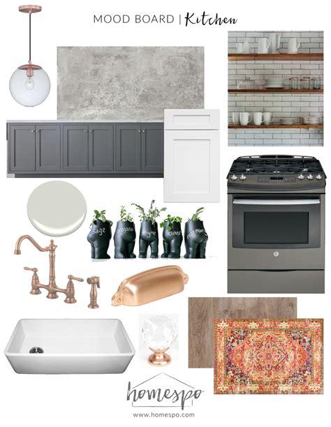 Country White Kitchen Cabinets white gray and copper kitchen mood board homespo