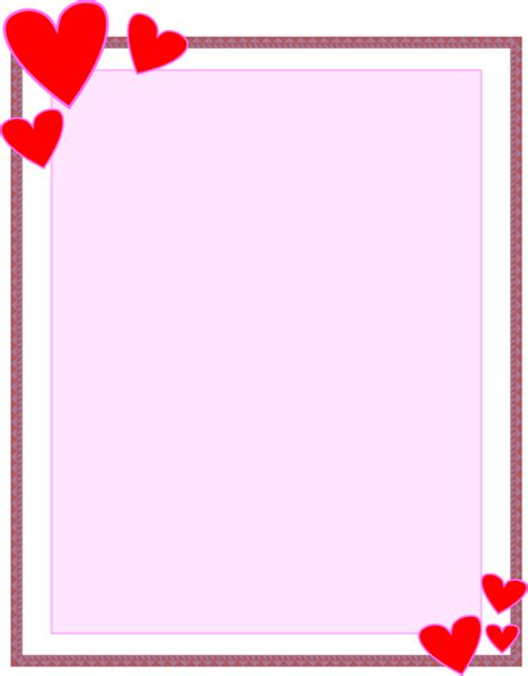 How To Make A Paper Border - borders for paper crafts and scrapbooking hearts page edge