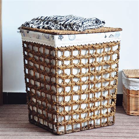 Drum Wicker Laundry Basket With Lid Sierra Laundry Woven Laundry With Lid
