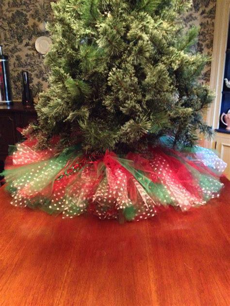 beautifully skirting   festive tree