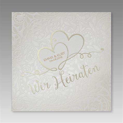 Einladungskarten Hochzeit Herz by Hochwertige Einladungskarte Zur Hochzeit Mit