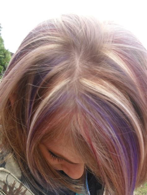 hair foil color ideas foils blonde red and purple my hair styles pinterest