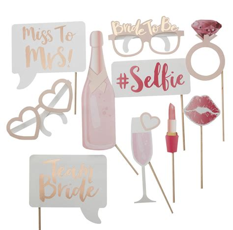 printable photo booth props hen party hen party team bride photo booth party props by ginger ray
