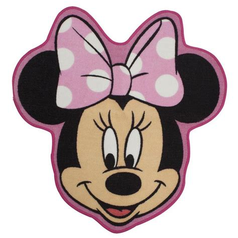 Disney Mickey Mouse Shaped Bath Rug - disney minnie mouse makeover shaped floor rug mat new
