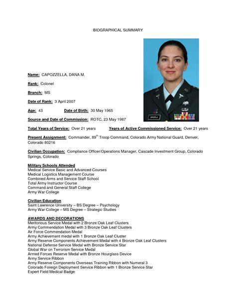 military biography format best photos of bio summary template famous person bio