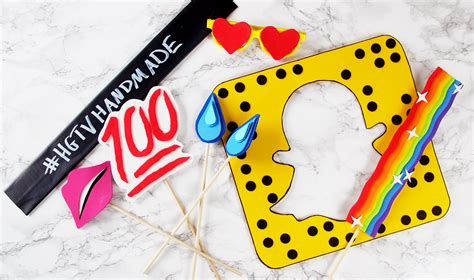 printable photo booth props snapchat diy snapchat inspired photobooth props karen kavett