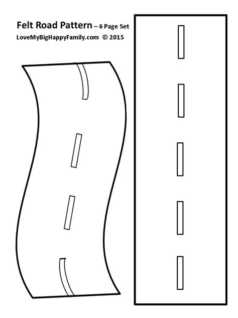 printable road felt roadway pattern make your own roadway for the kids