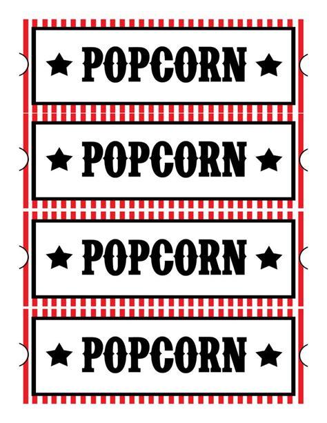 printable popcorn stationary popcorn sign printable free printable movie ticket