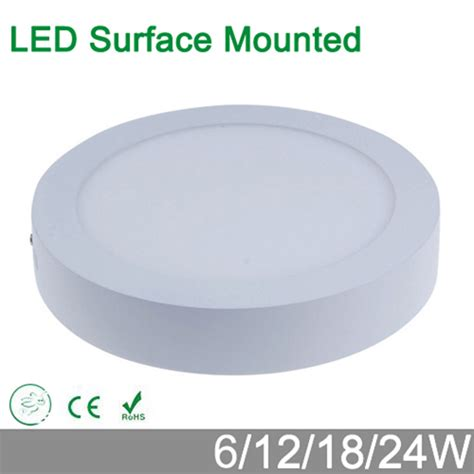 Oscled Mzpbd8r Surface Panel Light 18w aliexpress buy no cut ceiling 6w 12w 18w surface mounted led ceiling l led panel