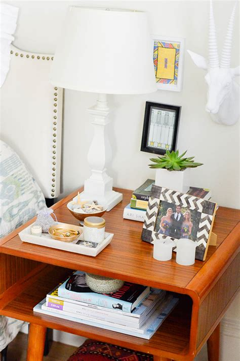 table styling bedside table makeover