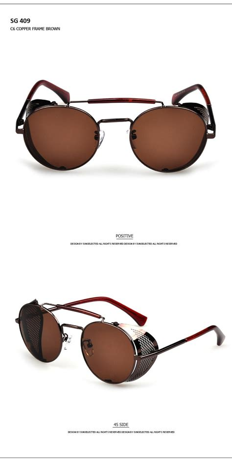 Frame Kacamata No 1 Sport 8696 C4 Brown Black Brown classic steunk metal mirror sunglasses brand designer 2015 fashion cover driving