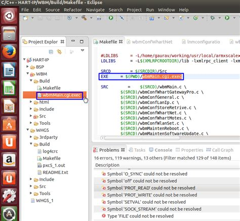 type layout cannot be resolved or is not a field 已解决 eclipse通过makefile调用交叉编译器交叉编译c项目出错 type file could