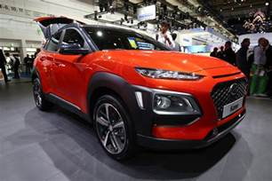 hyndai new car new 2017 hyundai kona suv uk prices and specs revealed