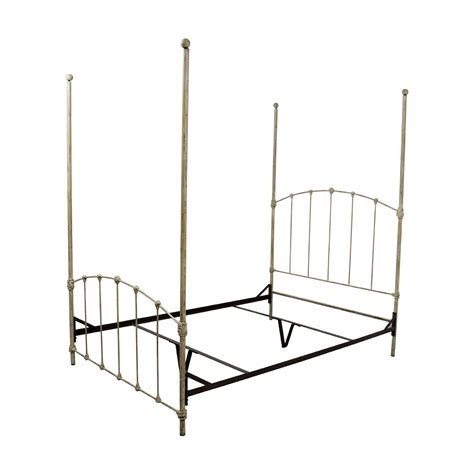 iron four poster bed 76 off wrought iron distressed white four poster bed beds