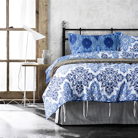 affordable comforters affordable blue bedding set with flower pattern for modern