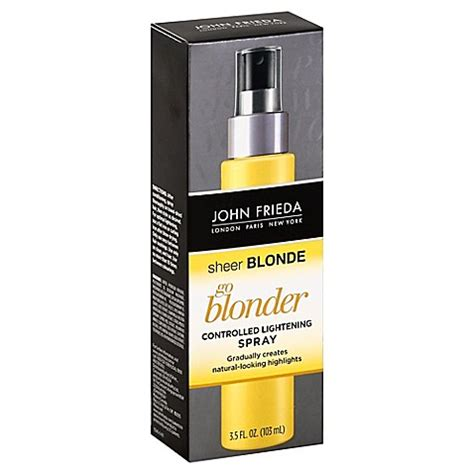 is john frieda morton in revitalizing in hand shoo good for grey hair john frieda 174 sheer blonde 174 go blonder light spray 3 5 oz