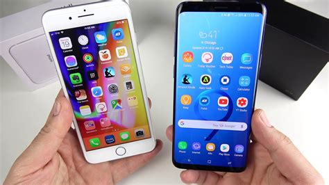 iphone 8 plus vs galaxy s9 plus comparison