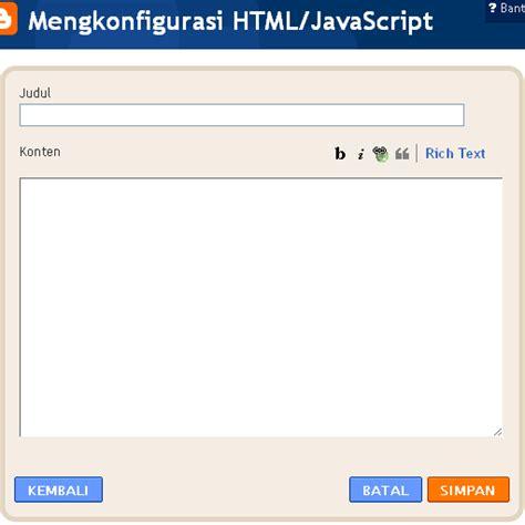 tutorial javascript pemula membuat buku tamu bersembunyi han s tutorial blogger pemula