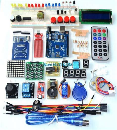 Learn Electronics With Arduino An Illustrated Beginner S Ebook uno r3 kit upgraded version of the starter kit the rfid learn suite lcd 1602 for jpg