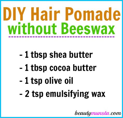Pomade Cook Grease diy hair pomade without beeswax beautymunsta