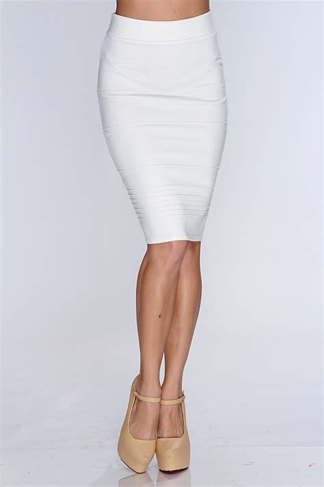 white leather pencil skirt dress ala