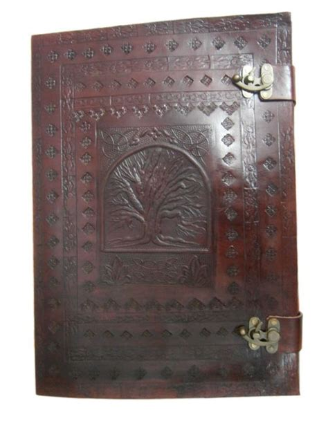 a3 leather sketchbook a3 size tree of handmade embossed leather leather