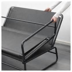 Ikea Metal Sofa Bed Hammarn Sofa Bed Knisa Grey Black 120 Cm Ikea