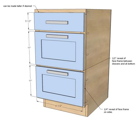 Kitchen Base Cabinet Plans by White Build A 18 Quot Kitchen Cabinet Drawer Base Free