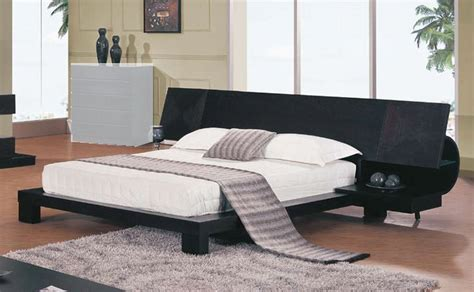 platform bed with built in nightstands global furniture usa soho platform bed with built in night