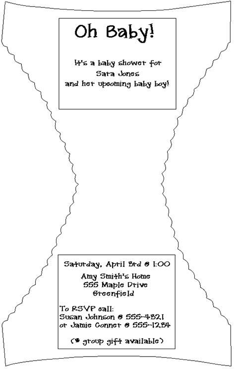 wallpaperew diaper baby shower invitations